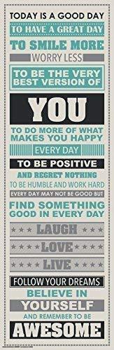 Siamrose Sé Impresionante Inspiración Motivacional Felicidad Cotizaciones Cartel Decorativo Imprimir 12 x 36 En una Calidad del Tubo LTLNB