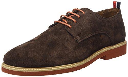 El Ganso Liso Ante, Zapatos de Cordones Oxford Hombre, Marrón, 45 EU