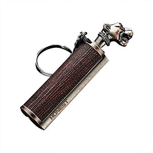 klt Encendedor de incendios para exteriores, con llavero de metal, kit de senderismo, resistente al agua, encendedores de camping y arrancadores de fuego (combustible no incluido)-5