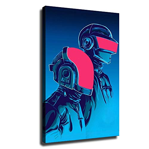 Daft Punk Poster Classic band music Canvas Wall Art SANTA RONA Office Poster HD Print (20x30inch,No Framed)