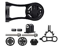 KOMANIC 自転車コンピュータマウント、GPSサイクリング用の調整可能な角度Goproコンボマウント スポーツカメラ ガーミンエッジ 自転車アクセサリー (黒)
