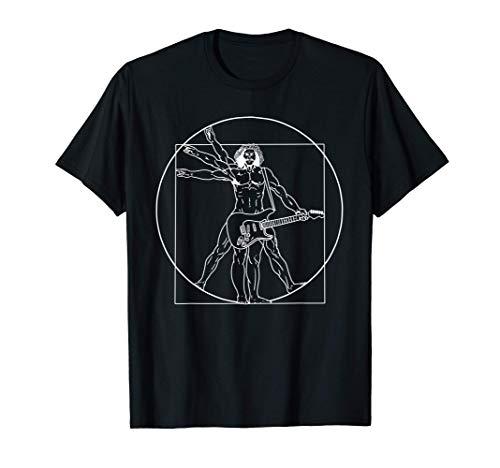 Vitruvian Man Guitar Music Player Da Vinci Guitarist T-Shirt