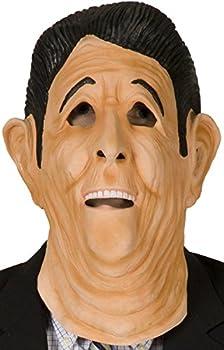 80sTees Point Break Ronald Reagan Mask Tan