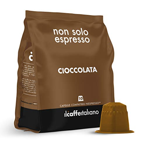 FRHOME - 50 Capsule di Cioccolata - Compatibili con Macchine da caffè Nespresso – Il Caffè Italiano