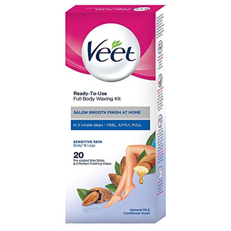 Veet Full Body Waxing Kit - Sensitive Skin (Pack of 20 Wax Strips)