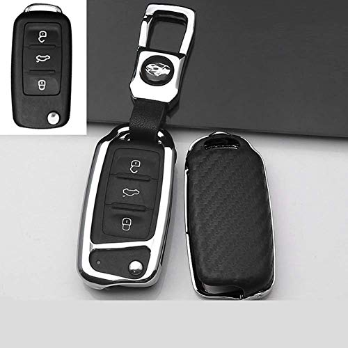 AMLaost Funda protectora para llave de coche, para VW GOLF Passat A5 Golf Bora Jetta POLO Fabia seat Leon B8 Gte Skoda octevia