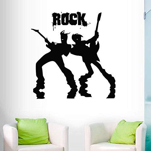 Pegatinas De Pared, Guitarrista Pegatinas De Pared Banda De Rock Concierto De Rock Guitarra Masculina Música Pegatinas De Pared Decoración Del Hogar Sala De Estar Dormitorio Póster De Vinilo 30X30Cm