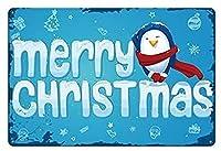 ブリキ メタル プレート サイン 2枚 ショートメリークリスマスメタルティンサインホームバーパブクラブホームキッチンハンギングアートワークプラークウォールアート装飾ヴィンテージサイン8インチX12インチ(20cm X 30cm)