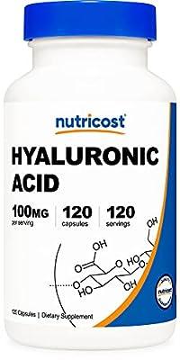 Nutricost Hyaluronic Acid Capsules 100mg,120 Veggie Capsules - Gluten Free, Non-GMO