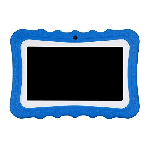 Fesjoy Q768 - Tablet infantil de 7 pulgadas, 1024 x 600, conexión WiFi con funda de silicona, color azul azul EU Plug