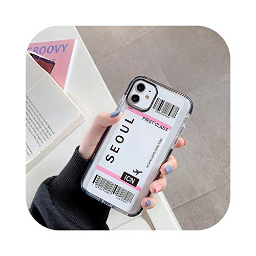 Funda para iPhone X XS MAX 11 Pro 12 7 8 Plus, diseño de Nueva York Los Ángeles París Tokyo City Label Bar Code Case para iPhone X XS MAX 11 Pro 12 7 8 Plus