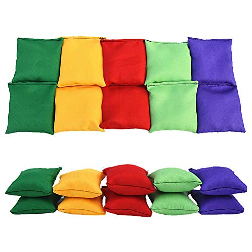 Kylewo Bean Bag Set: Nylon Sitzsäcke, Sitzsäcke Karnevalsspielzeug für Wurfspiel,10 Stück