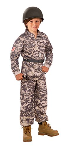 Forum Novelties Camouflage Soldier Army Costume for Children - Includes Shirt, Pants and Belt - Small