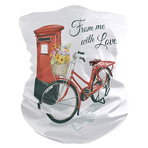 Multifunctionele sweatband, fiets parkeren uit de rode box na gamaschen hoofddeksel hoofdband magische bivakmuts van polyester voor wandelingen met voeten, jacht fietsen
