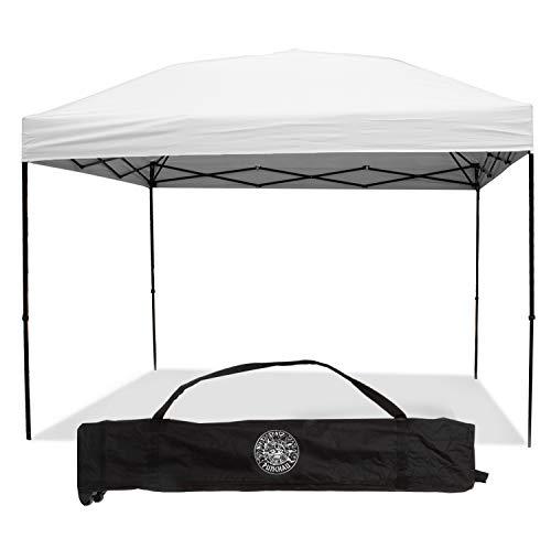Punchau Pop Up Canopy Tent 10 x 10 Feet, White - UV Coated, Waterproof Outdoor Party Gazebo Tent