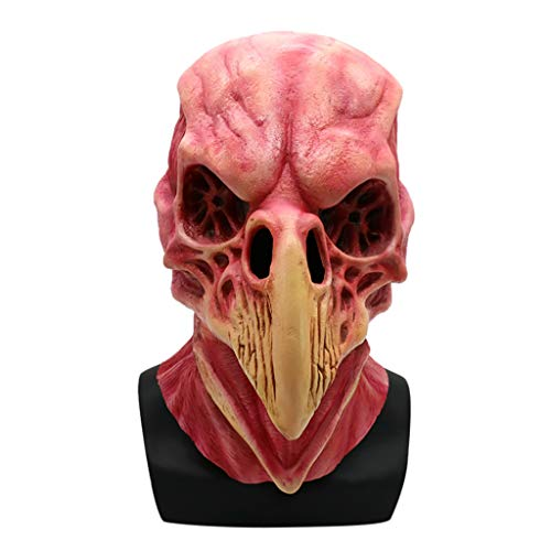 jieGorge Halloween Horror Blood Skull Bird Head Mask Party Holiday Latex Mask , Education , for Halloween Day(Multicolor