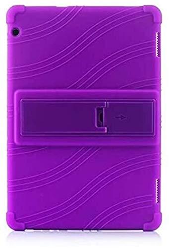 YNLRY Tab Accesorios para Huawei MediaPad T5 AGS2-W09/L09/L03/W19 de 10.1 pulgadas, funda trasera de silicona para tablet para Huawei Mediapad T5 10 (color morado)