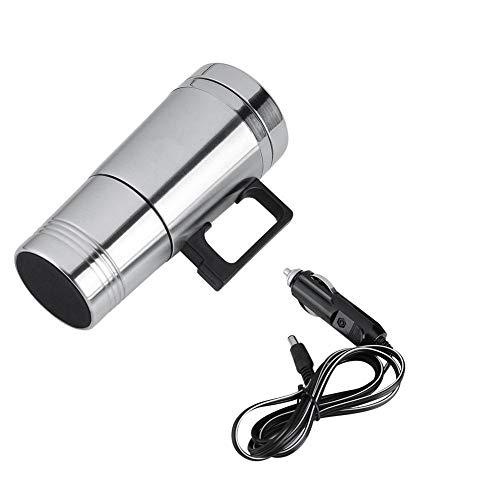 Hervidor de agua para coche, 12 V/24 V, 300 ml, taza de agua eléctrica para coche, taza para beber con calefacción, para agua caliente, café, té(24v)