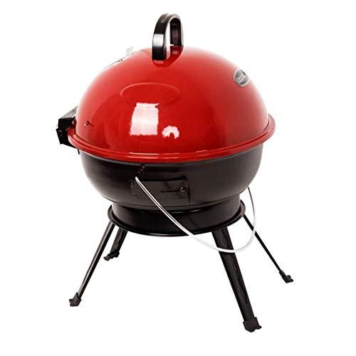 YGB Grillgrill im Freien Tragbarer Holzkohlegrill, im Freien Chromstahl-Grill mit Deckel Klappbeine Kesselgrill Grillparty im Freien