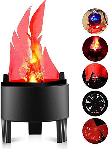 WFFF 3D Fake Fire Light, Artificial LED Silk Flame Stage Effect Light Realistic 3D Campfire Lamp Prop Flame LightHalloween,Christmas,Festival,New Year, Party,Night Club Decor-US Plug (Flame Lamp)