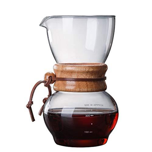 SJQ-coffee pot CafetièRe en Verre RéSistant à la Chaleur, Grande Capacité, avec Appareils MéNagers en Acier Inoxydable de 17,5 Onces