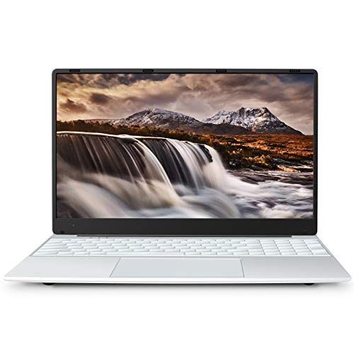 MEBERRY Laptop 15.6 Zoll Inter-Ultra Dünn Windows 10 Notebook:8 GB DDR4, 256 GB SSD | Full HD IPS 1920 x 1080 | 2.4G/5G Dualband WiFi | Micro SD Slot | Bluetooth | HDMI | USB 3.0 / 2.0 - Silber