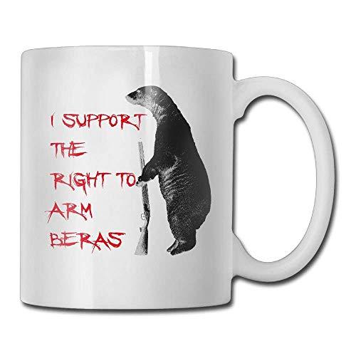 N\A Apoyo el Derecho a armar Osos Tazas de café Gran Regalo Taza de té de cerámica Familia y Amigos