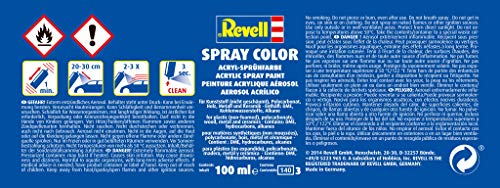Revell 34109 Spraydose anthrazit, matt Spray Color, Farben in der praktischen 100-ml-Sprühdose