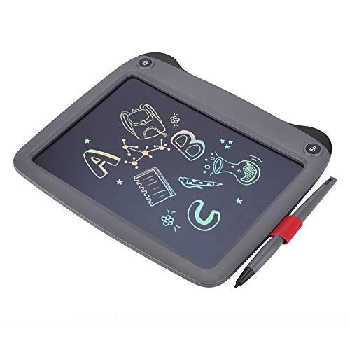 cigemay Panel de Escritura Monocromo de 9 Pulgadas, Panel de Escritura LCD Inteligente portátil, Pantalla Sensible a la presión, función de eliminación de una tecla, diseño Ultrafino y liviano(Gris)