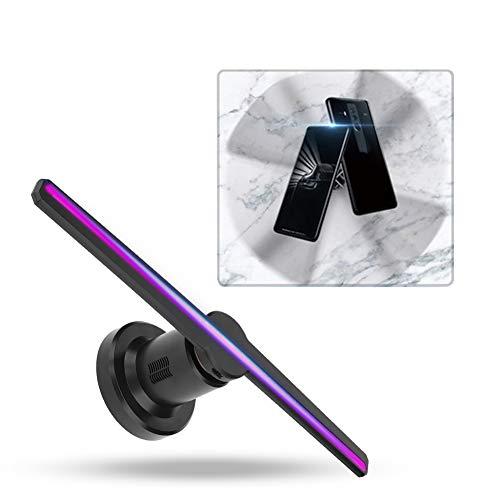 3D hologram projector 3D reclame display ventilator met 512 * 224 resolutie 224 LED kralen, 3D Naked Eye holografische fan ondersteunt TF-kaart wandmontage voor business Store Shop Bar