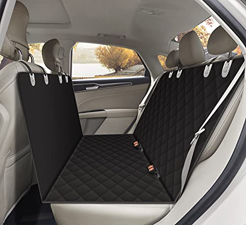 Alfheim Sitzbezug des Autos für Haustier, verschleißfester Bezug des Hintersitzes für Haustier, ausgerüstet mit Anker und rutschfestem Gummibodenbezug (Auto, LKW, SUV)