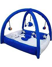 Nagar International Baby Bassinet & Cradle Bedding Set in Large Size PlayGym Met for 0-12 Months (Blue (0-12 Months))