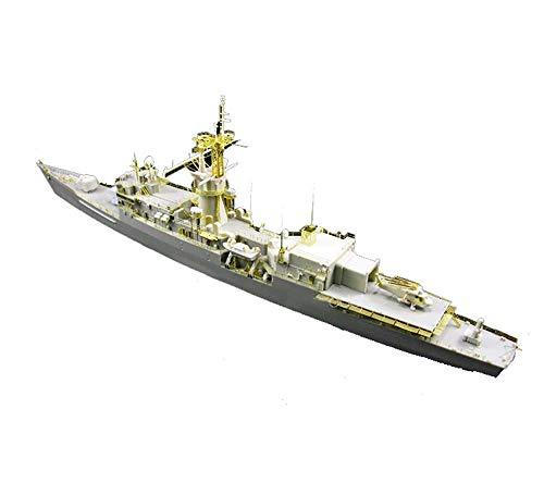 MxZas Battleship Militar Maquetas, escala 1/350 USS Knox Puzzle de goma clase Frégata Adulto Juguetes y Objetos de la colección Jzx-n