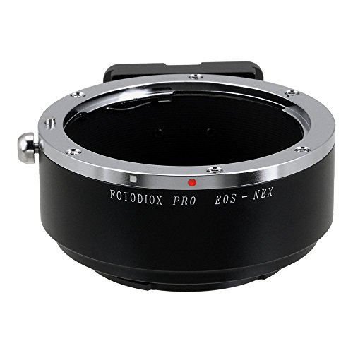 Fotodiox Pro Lens Mount Adapter - Canon EOS (EF, EF-s) Lens to Sony E-Mount Camera (APS-C & Full Frame Such as NEX-5, NEX-7 & α7)