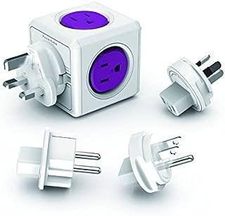 PowerCube PC-1910/USRU4P 1910 Adapter, 4 Outlets/2 USB, Orchid Purple