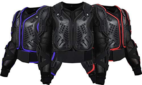 Motorcycle Body Armor Protection Men & Women Dirt Bike Atv Airsoft Paintball Motocross Enduro… (BLACK, MEDIUM)