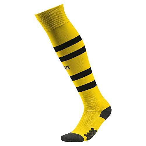 PUMA Herren BVB Hooped Stutzen, Cyber Yellow Black, 4