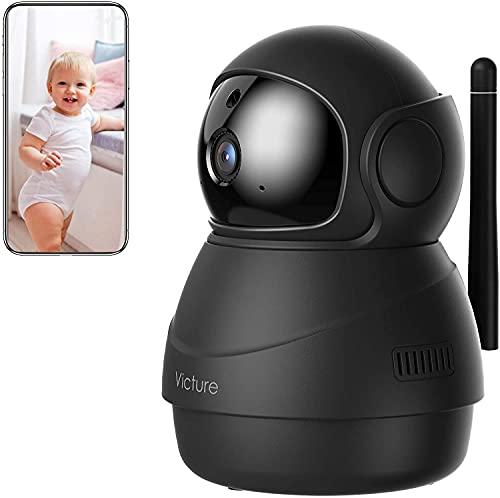 [Nuova Versione] Victure Home 1080P Baby Monitor con Rilevamento del Suono Telecamera Wifi di Sorveglianza Interna con Visione Notturna, Monitoraggio del Movimento