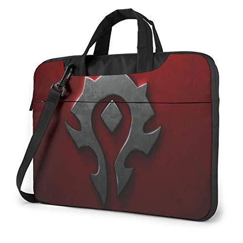 Hdadwy World Warcraft Horde Laptop-Hülle Laptoptasche Tablet Aktentasche Ultraportable Schutzhandtasche Oxford-Tuch - für MacBook Pro/MacBook Air/Notebook 13 Zoll