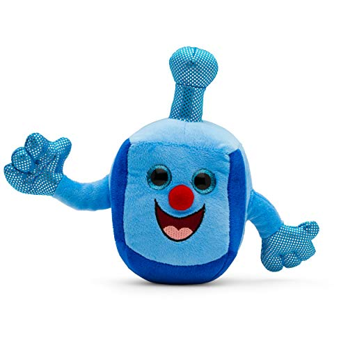 Aviv Judaica Plush Dreidel Toy - Musical Dreidel - Plays Two Dreidel Songs - Hanukkah Gifts for Kids