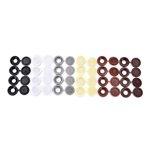 10pcs / lot tappi a scatto in plastica incernierati per tappi a vite per la decorazione di mobili per la casa di auto, color crema