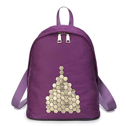 Light Oxford tissu rivet sac à dos mode Casual shopping Voyage dames sac à dos , style 4