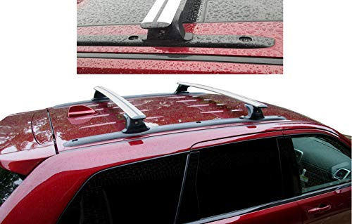 BRIGHTLINES Roof Rack Crossbars Compatible with 2011-2021 Jeep Grand Cherokee Altitude/SRT with Roof Black Moldings (Silver)