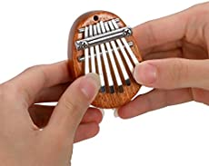 Elejolie Kalimba Mini Thumb Piano 8 Keys Finger Piano Finger Harp Portable for Beginner Kids Adult,Musical Instruments with Pendant Gift for Festival