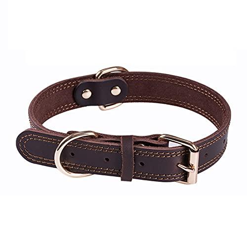 Collares de piel para perros, collares de piel para perros de tamaño mediano y grande