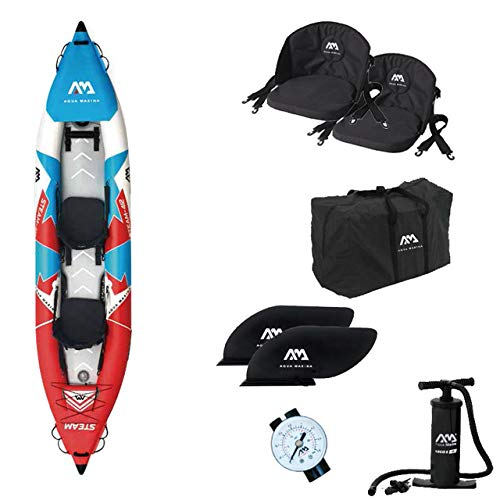 RHSMW Kayak Inflable, Bote Deportivo Inflable Kayak Canoa Balsa Inflable De PVC Adecuada para Pesca Kayak Canoa Plegable Inflable,Single