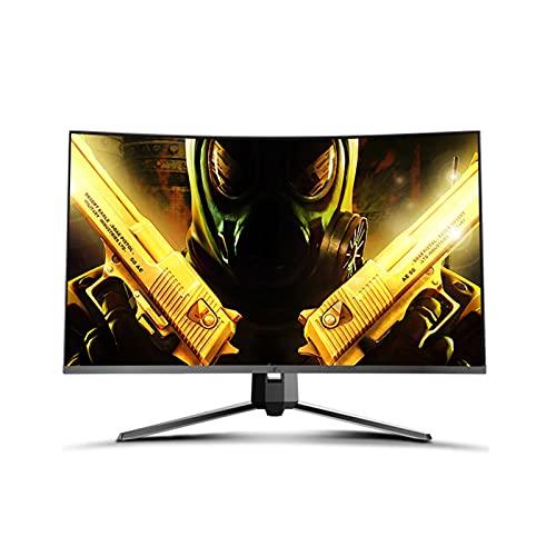 AMIAO Monitor LCD de 27 Pulgadas, Superficie Curva 2K, 144 HZ, computadora de Alta definición para Juegos, computadora portátil de Pantalla Grande, Soporte de Respuesta Externo 1MS, Elevador de Pared