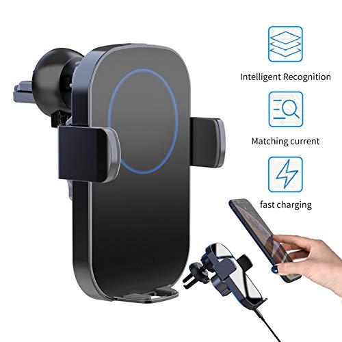 Draadloze auto oplader, 2.5D glas Qi Fast Auto Clamp Telefoon Houder Auto Vent Mount Compatibel met Galaxy Note8/S8 +/S8/S6 voor Iphone8/8Plus/X