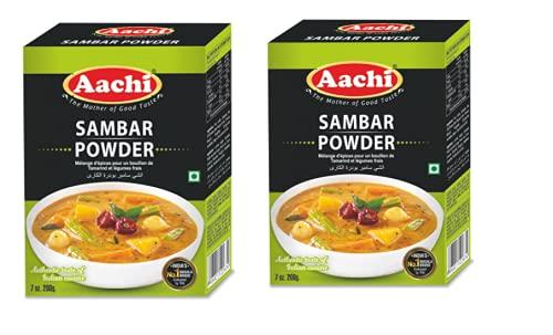 AACHI Sambar Powder Topics on TV 200 GMS -TWIN X PACK Ranking TOP15 - OF 2