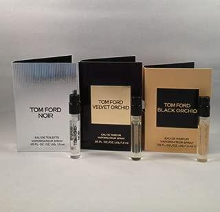 Lot of 3 Tom Ford Black Orchid, Noir, Velvet Orchid Spray Sample Travel Size Vial .05 Oz/1.5 Ml Each TRY ALL